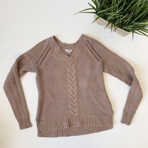 Old Navy Cable Knit Sweater Tan Size XS
